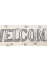 Welcome Dot Hook Wool Pillow