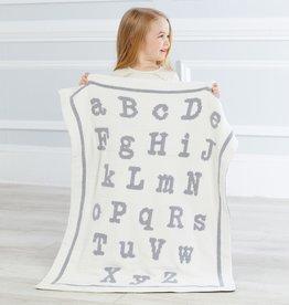 Grey ABC Chenille Blanket