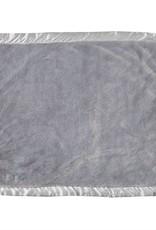 Grey Satin Trim Blanket