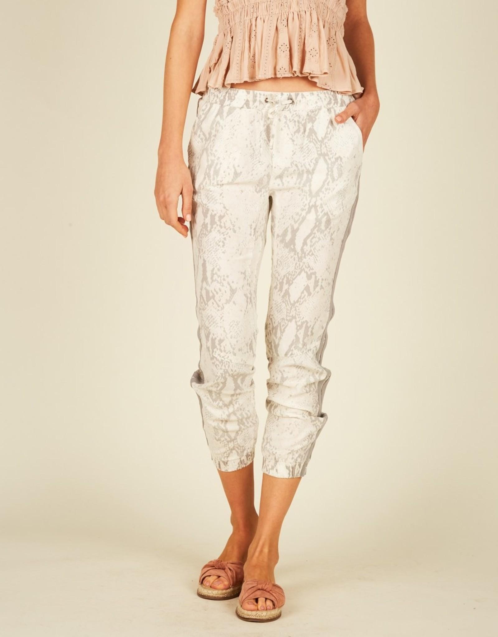 Vintage Havana White Snakeskin Tencel Cargo Pants