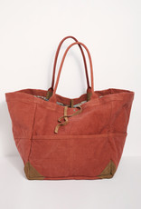 Free People Fremont Mixed Material Tote