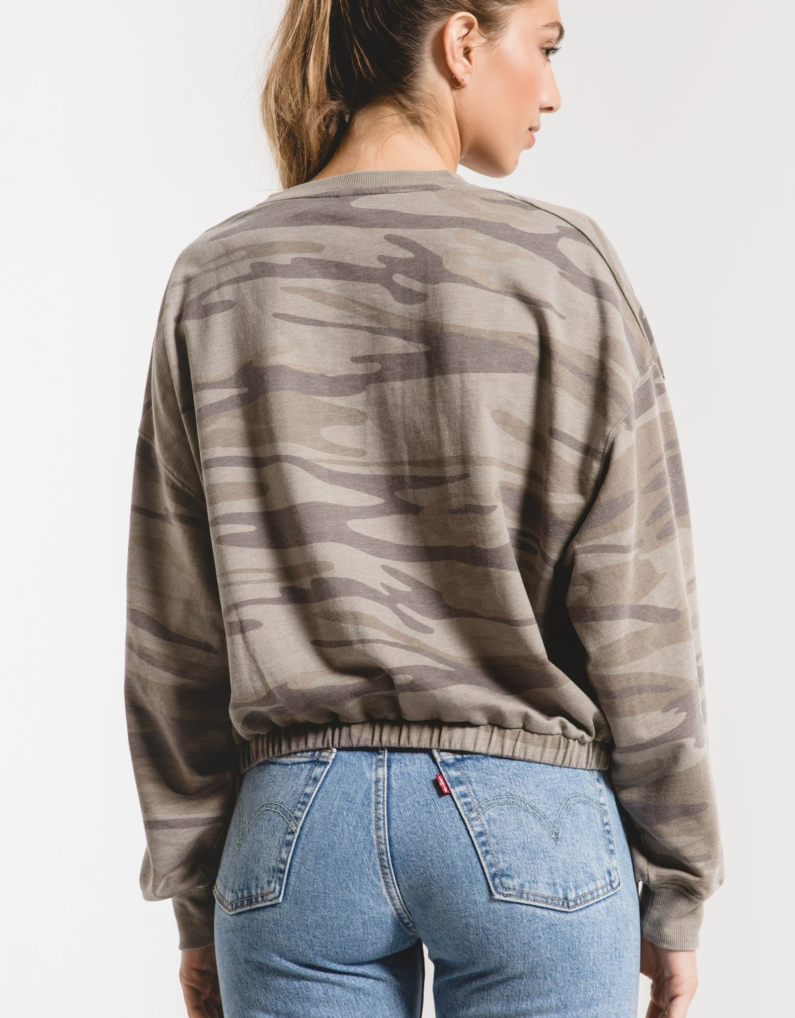 Z Supply The Camo Relaxed Pullover