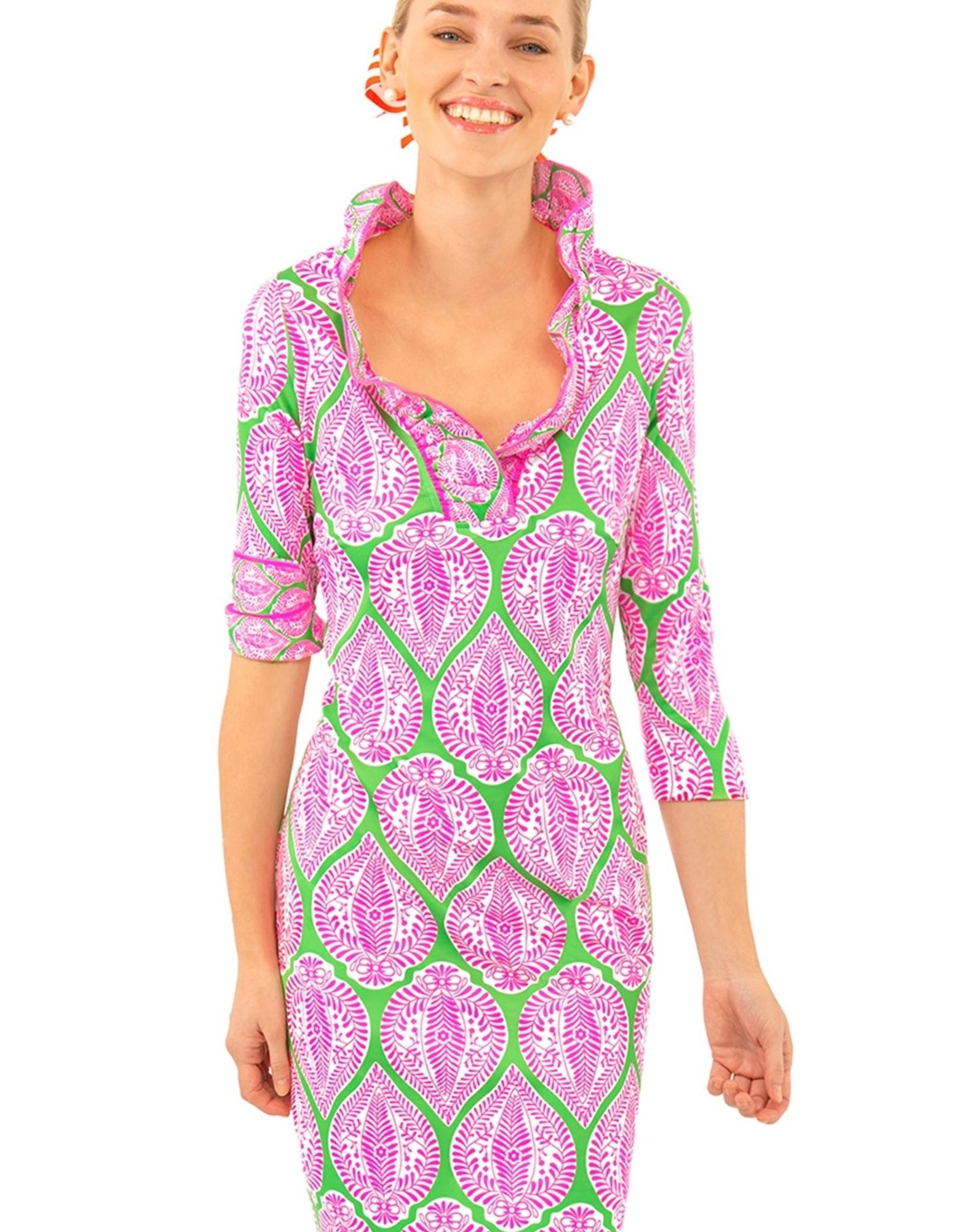Gretchen Scott Ruffneck Dress Indian Summer