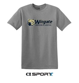 Gildan Grey Dog Head Wingate Cheerleading SS