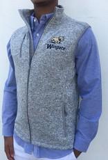 Men's Charles River Pacific Grey Vest Full Dog Over Wingate