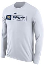 Nike Unisex White Wingate Bulldogs Drifit Legend Cotton LS