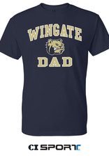 Gildan Navy Wingate Dog Head Dad SS Tee