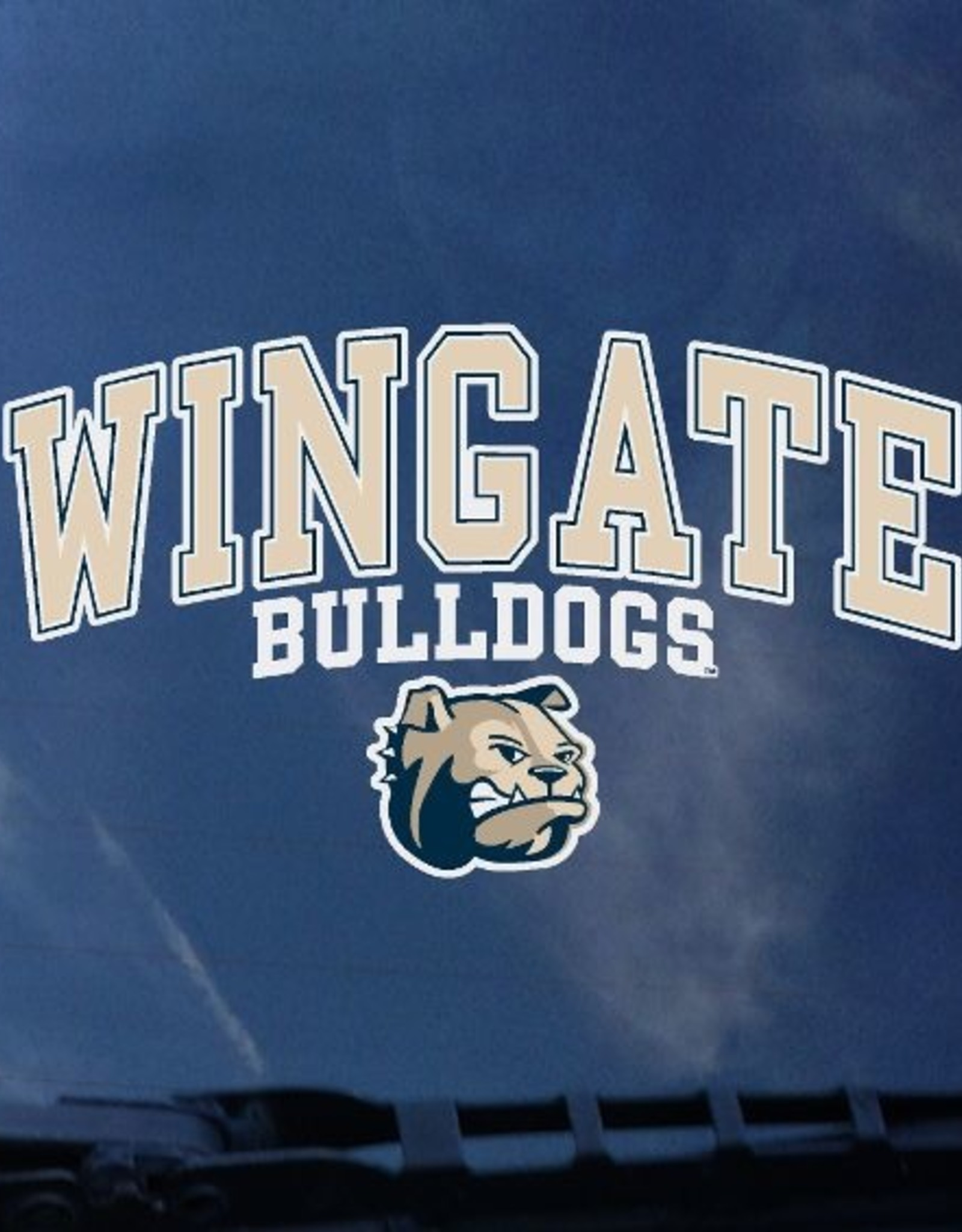 Color Shock Wingate Bulldogs Dog Head Decal