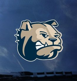 "Color Shock 4"" x 4"" Large Bulldog Head Decal"