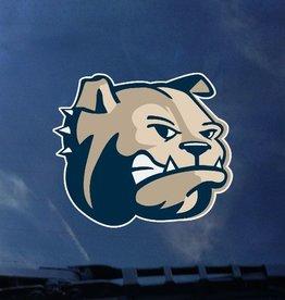 Color Shock Bulldog Head Decal