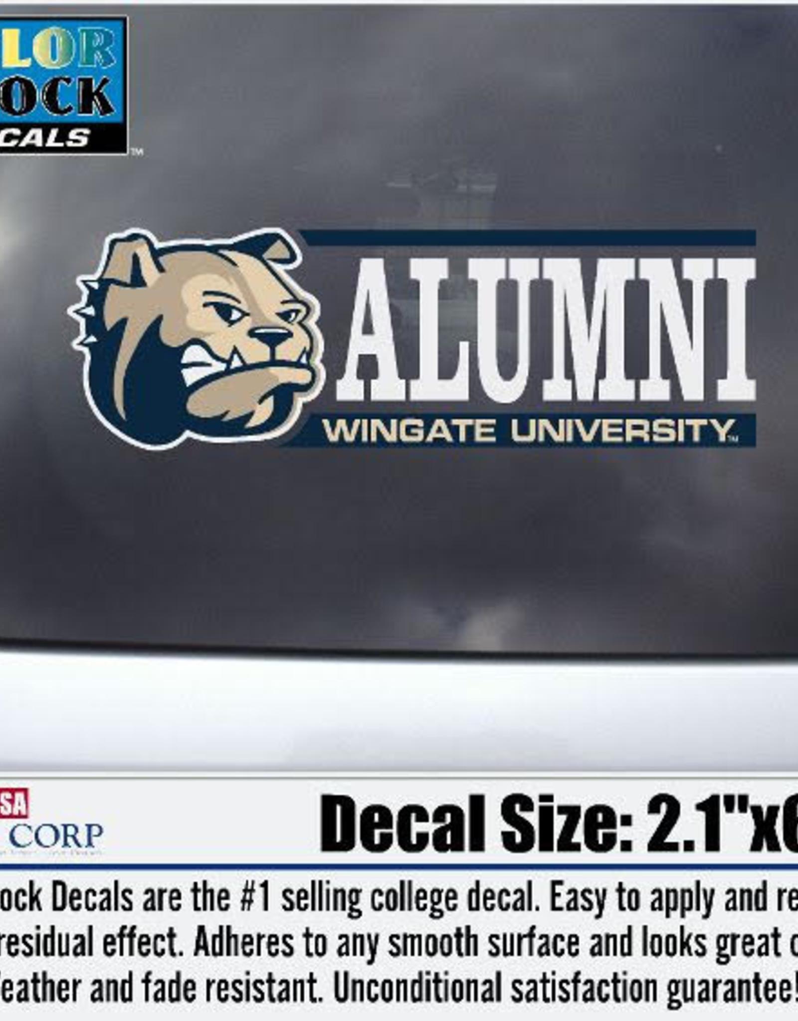 "Color Shock 2.5"" x 2"" Alumni Decal Dog Head Bar Graph"