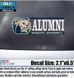Color Shock Alumni Decal Dog Head Bar Graph