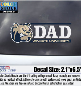 "Color Shock 2.5"" x 2"" Dad Decal Dog Head Bar Graph"
