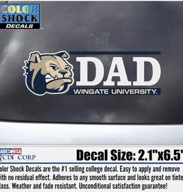 Color Shock Dad Decal Dog Head Bar Graph