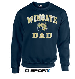 Gildan Navy Dad Crewneck Wingate Dog Head