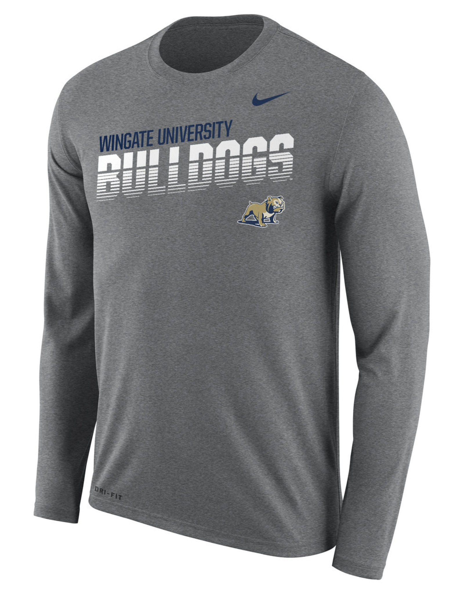 Nike Unisex Legend Heather Striped Bulldogs Drifit LS