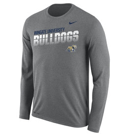 Nike Legend Heather Striped Bulldogs Drifit LS