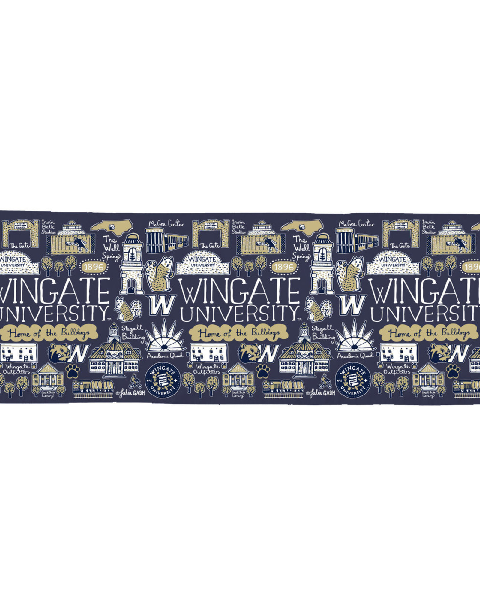 """23""""x71"""" Campus Collage Scarf"""