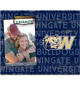 6X4 Wingate University Dog Head W Frame