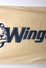 3' x 5' Flag Gold with Bulldog Head and Wingate