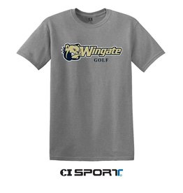 Gildan Grey Dog Head Wingate Golf SS Tee