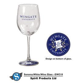 Sonoma Wine Glass Hologram Seal on Base