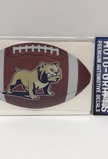 Bulldog Standing with Football Decal