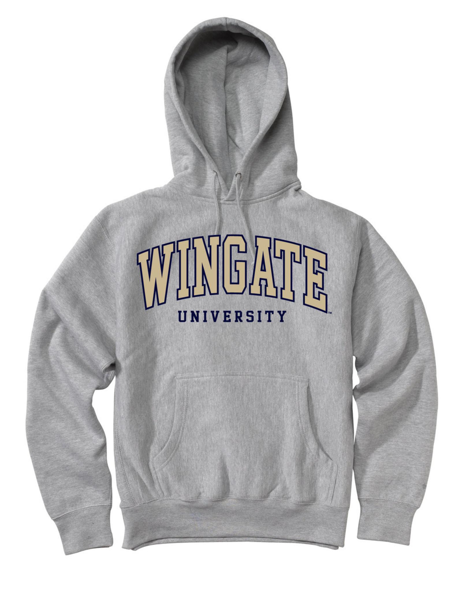 MV Sport Grey Wingate University Embroidered Hoodie