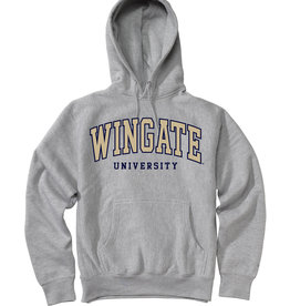 MV Sport Grey Wingate University Embroidered Hoodie