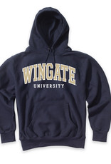 MV Sport Navy Wingate University Embroidered Hoodie