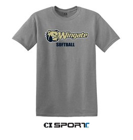 Grey Dog Head Wingate Softball SS
