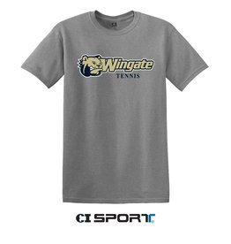 Gildan Grey Dog Head Wingate Tennis SS Tee