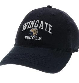 Navy Wingate Dog Head Soccer Unstructured Adjustible Hat