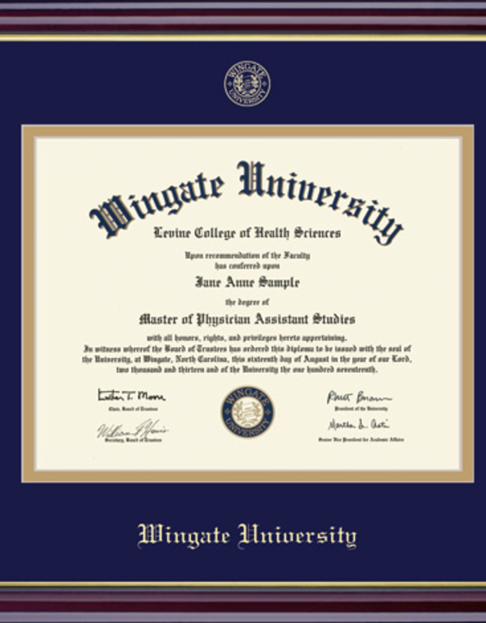 Windsor Diploma Frame