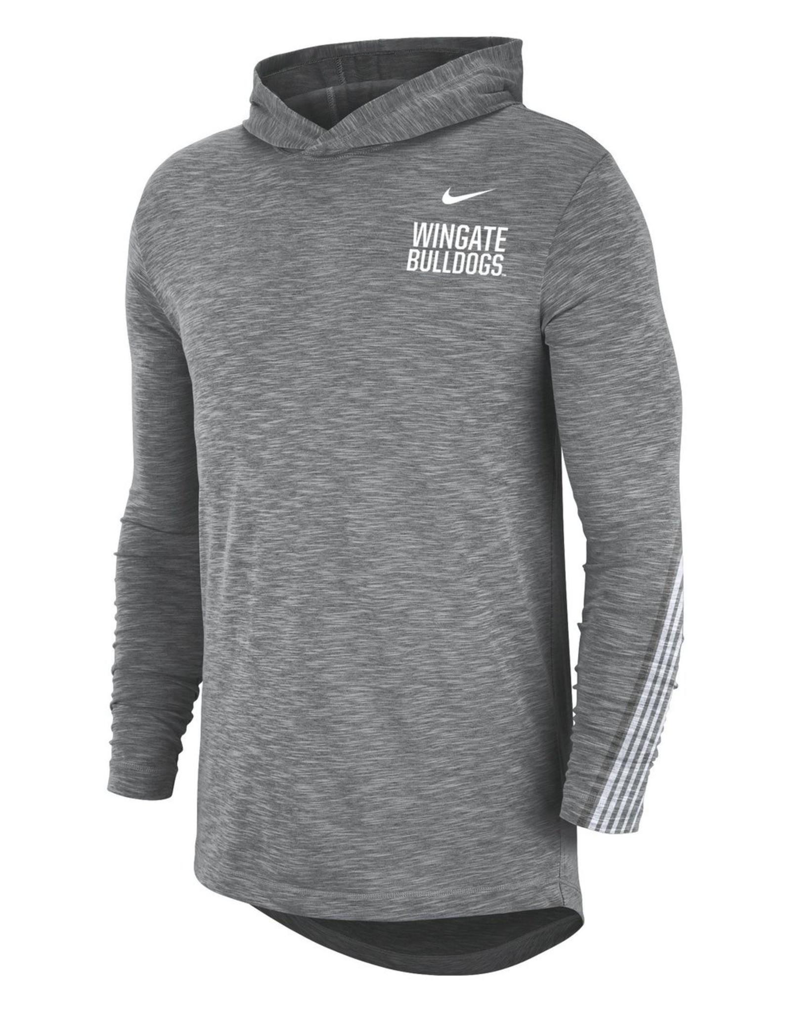 Nike Drifit Cotton Grey Hoodie Tee