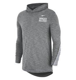 Nike Nike Drifit Cotton Grey Hoodie Tee