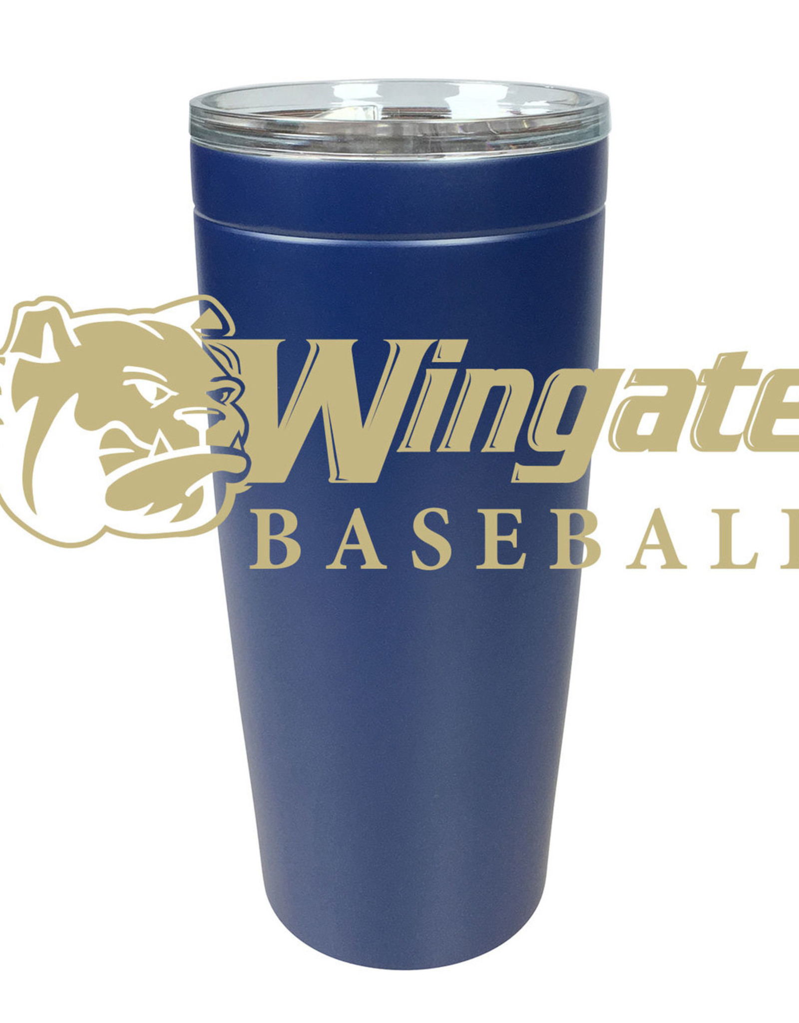20oz Navy Baseball Stainless Tumbler