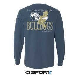 Comfort Colors Wingate U Bulldogs State Map Comfort Colors LS Tee