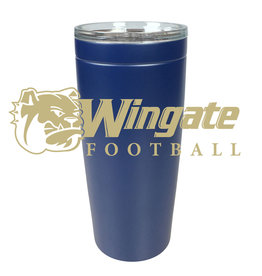 20oz Navy Football Stainless Tumbler