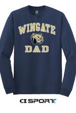 Gildan Navy Dad Wingate Doghead LS