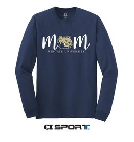 Gildan Navy Mom LS