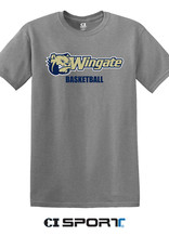 Gildan Grey Dog Head Wingate Basketball SS