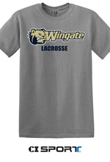 Gildan Grey Dog Head Wingate Lacrosse SS