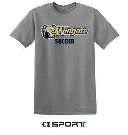 Gildan Grey Dog Head Wingate Soccer SS