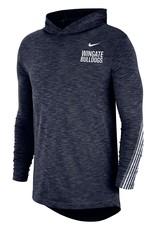Nike Drifit Cotton Navy Hoodie Tee