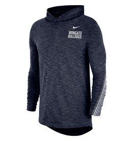 Nike Nike Drifit Cotton Navy Hoodie Tee