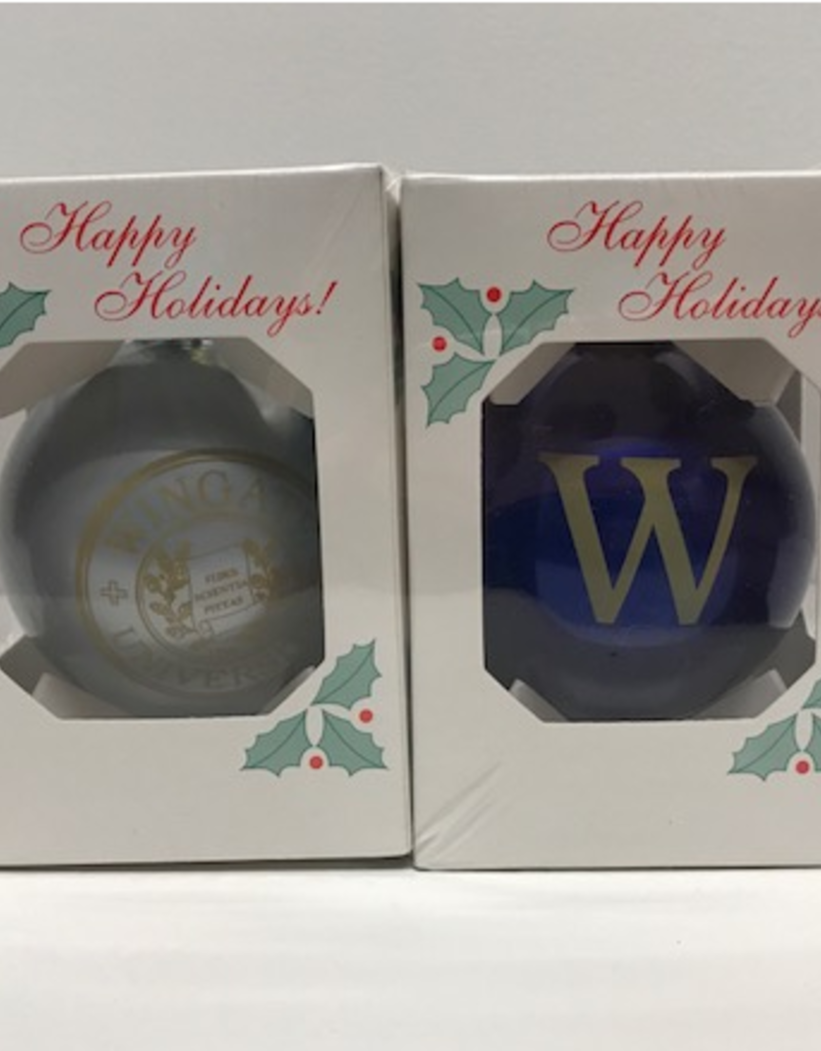 Christmas Ornament 2 pack (silver and blue)
