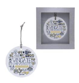 Flat Ceramic Collage Ornament