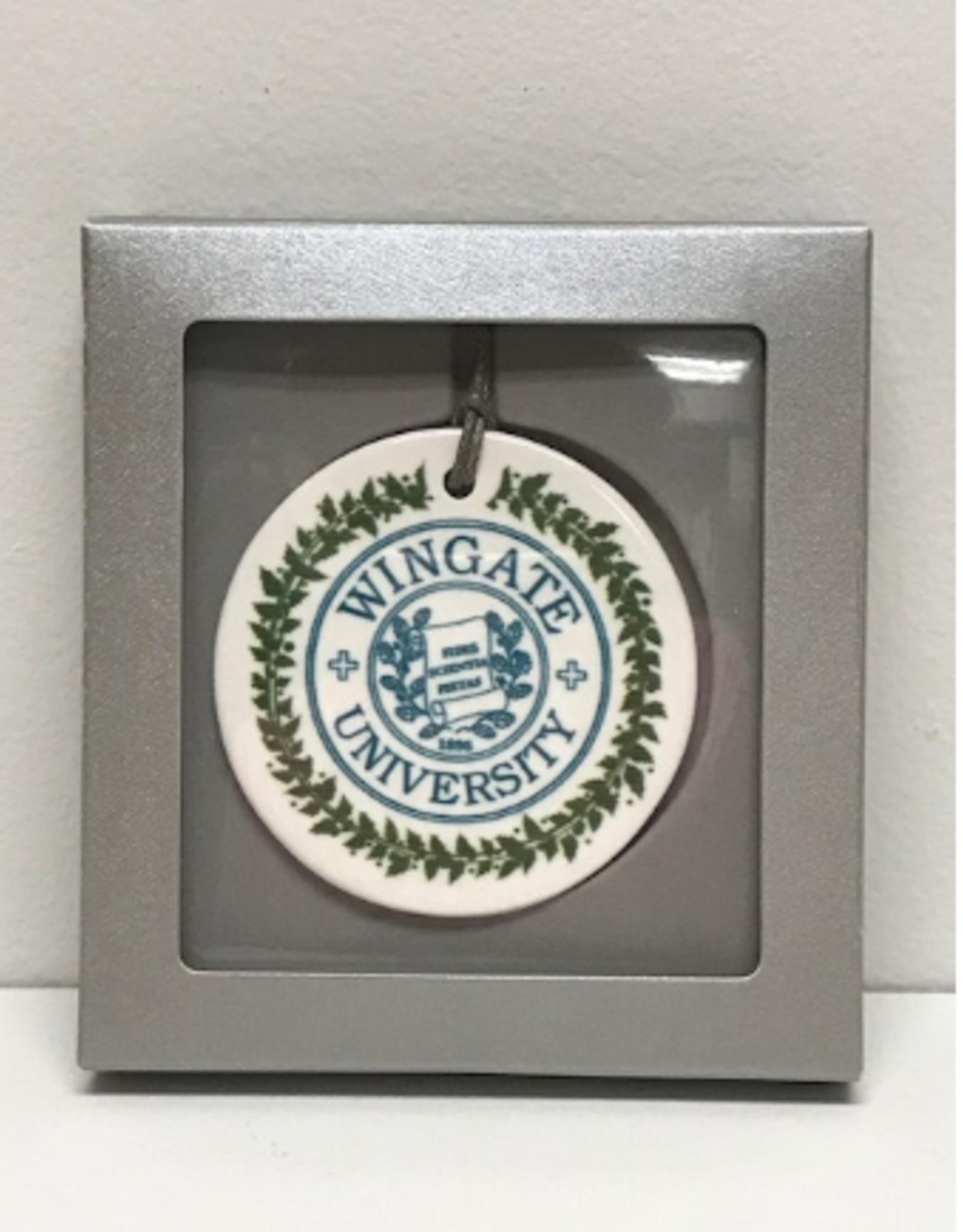 Flat Ceramic Seal Ornament