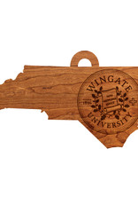 LazerEdge Wood Ornament State Wingate Seal